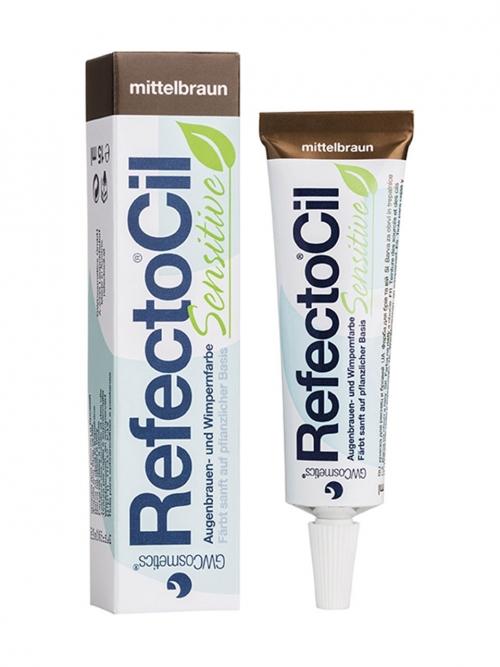 RefectoCil - Sensitive mittelbraun 15 ml Augenbrauen- und Wimpernfarbe